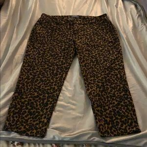 Old navy leopard pants